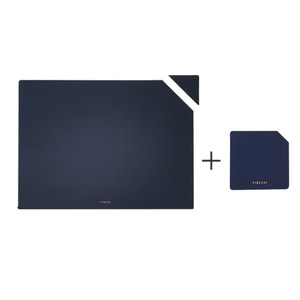 FINECHI TABLE MAT (RECTANGLE) + CUP MAT (SQUARE) SET : NAVY